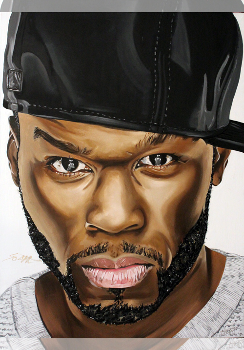 50 Cent Portrait *SIGNED* Email InfiniteMeasures1@gmail.com for pricing