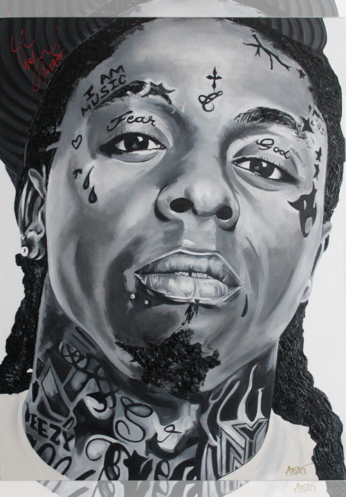 Lil Wayne Portrait *SIGNED* Email InfiniteMeasures1@gmail.com for pricing