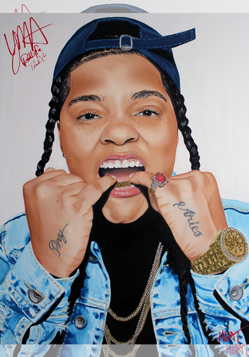 Young M.A Portrait *SIGNED* Email InfiniteMeasures1@gmail.com for pricing