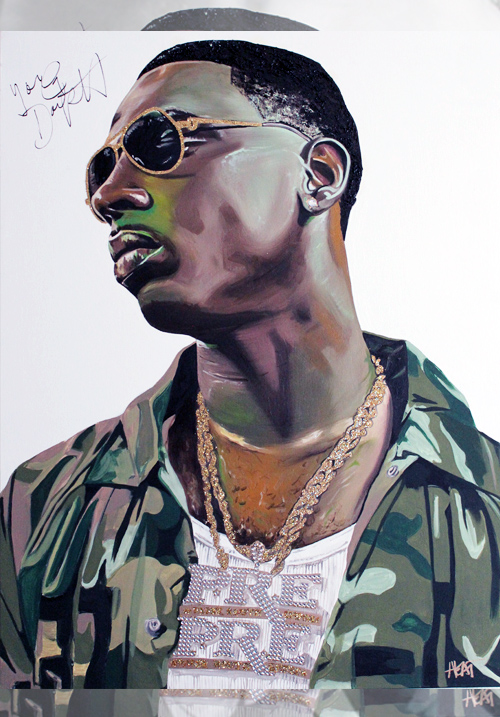 Young Dolph Portrait *SIGNED* Email InfiniteMeasures1@gmail.com for pricing